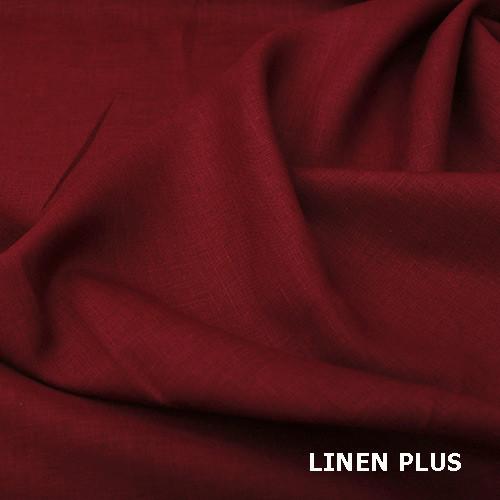 Червона лляна тканина 100% льон колір 857