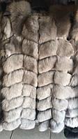 Меховая стильная и модная  жилетка 90 см