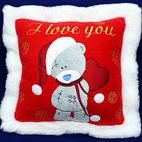 Новогодняя подушка - I Love You