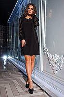 Элегантное платье с шифоновыми рукавами