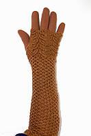Стрейчевые женские перчатки  длинные+митенка от производителя