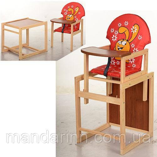 Стульчик для кормления деревянный V-010-21-3