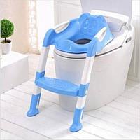 Детское сиденье для унитаза в форме лягушки с приставной лестницей Froggie Children`s Toilet Ladder