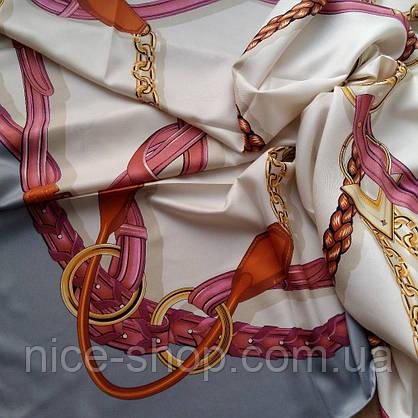Платок-люкс Hermes шелк, фото 3