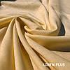 Персиковая льняная ткань 100% лен, цвет 980