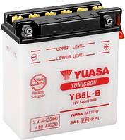 Аккумулятор МОТО Yuasa 12V 5,3Ah  YuMicron Battery YB5L-B (сухозаряженный)