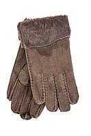 Женские перчатки из натуральной кожи и меха на зиму