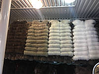 Меховая стильная и модная песцовая жилетка 70-100 см