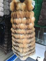 Меховая стильная и модная жилетка