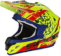 "ШЛЕМ SCORPION VX-15 EVO AIR KITSUNE neon yellow/red ""M"", арт. 35-232-115 (шт.)"