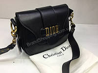 Кожаная сумка Dior Lux черная 1460