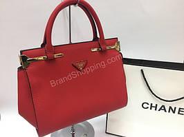 Стильная сумочка Prada Lux красная 1478