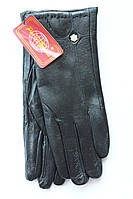 Стильные женские кожаные перчатки  новинка сезона