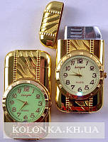 Зажигалка карманная с часами №3921