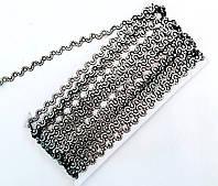 Украшение на ленте серебро 9м в упаковке