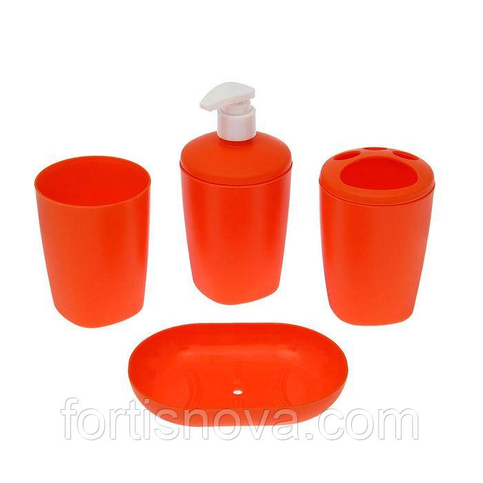 Набор аксессуаров для ванной комнати Aqua (мандарин)