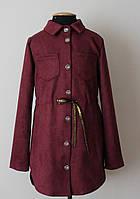Рубашка туника для девочки подростка, замша
