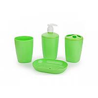 Набор аксессуаров для ванной комнати Aqua (салатовый)