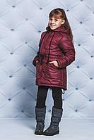 Куртка зимняя для девочки бордо