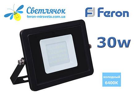 Прожектор светодиодный 30W Feron LL-993 SLIM тонкий корпус 360, фото 2
