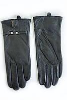 Удобные женские кожаные перчатки ВЯЗКА СЕНСОРНЫЕ