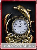 Зажигалка подарочная с часами Дельфины №4373