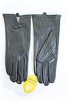 Перчатки женские кожаные с искусственным мехом кролика