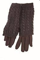 Универсальные женские перчатки стрейч+ вязка хит продаж