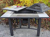 Стол-барбекю садовый (100х100х60 см)