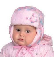 DemboHouse. Зимова шапочка для дівчинки Расті рожева 860d25f4704c2