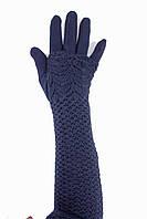 Длинные женские перчатки стрейч+митенка от производителя