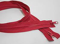 Молния красная разъемная (косой зуб, трактор, тип-5, 100см, пластмасс)