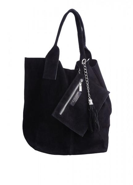 6fd127ba386b Женская замшевая сумка DIVAS ARIANNA S6813 черная - Интернет магазин