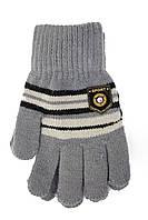 Теплые трикотажные перчатки Корона серого цвета хит продаж