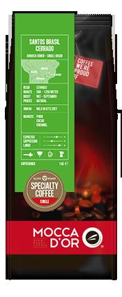 """Кофе в зернах Mocca D""""or Santos Brazil Cerrado 500 гр"""