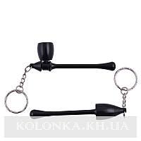 Трубка для курения-брелок Капля (черная) №4685