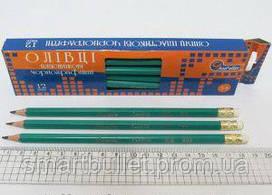 Графітний олівець з гумкою Josef Otten 655В-HB