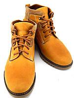 Мужские зимние ботинки, натуральная кожа, нубук, модель Vebster