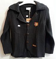 Дитяча кофта на хлопчика,склад: 85%акрил +15% бавовни розміри:5-9 років, колір чорний