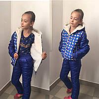 """Детский зимний спортивный костюм на синтепоне """"Mickey"""" с капюшоном (2 цвета)"""