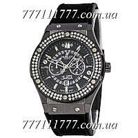 Часы женские наручные Hublot 882888 Classic Fusion Crystal All Black