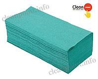 Рушники паперові макул., V-скл., зелені, 1-но шарові, 160 шт/пач Clean Point