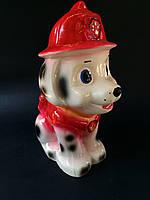 Копилка собака Долматинец в красном