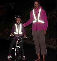 Регулируемый светоотражающий жилет безопасности для детей и взрослых. Отражающий жилет.