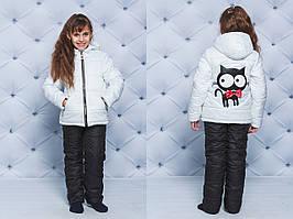 Зимний костюм детский Кот белый