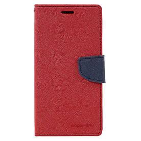 Чехол книжка для Samsung Galaxy A7 2017 A720 боковой с отсеком для визиток, Mercury Goospery, Красный