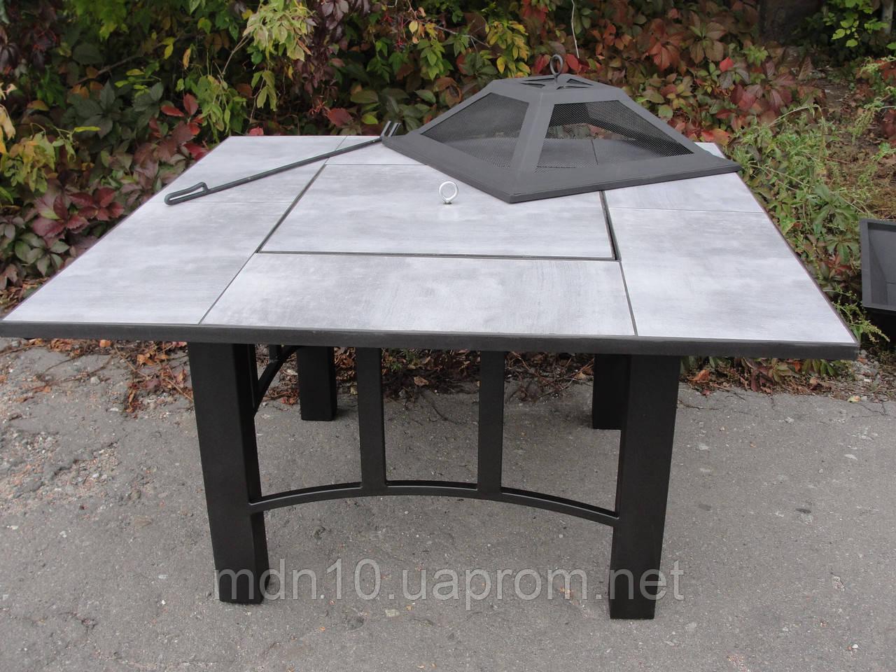 Садовый стол-барбекю 120см (1200x1200х650 мм)