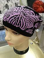 Модная женская шапка (вязаная)
