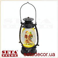 "Лампа новогодняя ""Дед Мороз"" с блестками"