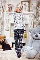 Стильный домашний костюм - пижамка, материал двунитка, рисунок звезды